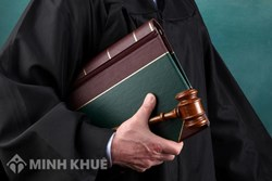 Lawyer participating in court litigation service