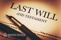 Counseling services of lawyers drafting, establishing wills and dividing inheritance according to the provisions of law