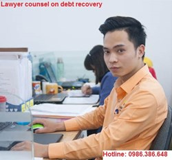 Settlement lawyer services, initiating lawsuits for debt collection or debt recovery