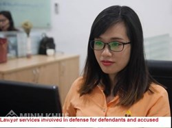Lawyer services involved in defense for defendants and accused